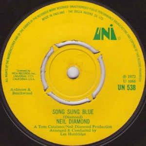 Neil Diamond - Song Sung Blue - Vinyl - 45''