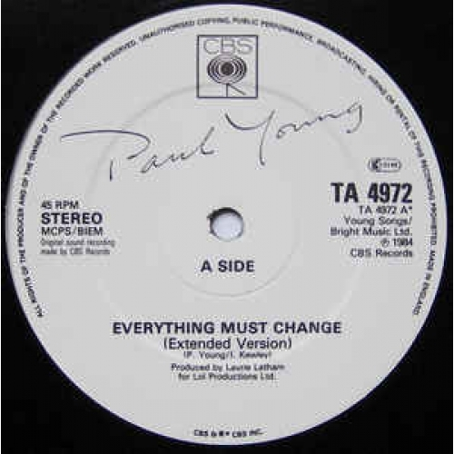 Paul Young - Everything Must Change - Vinyl - 12""