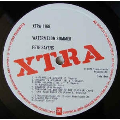 Pete Sayers - Watermelon Summer - Vinyl - LP