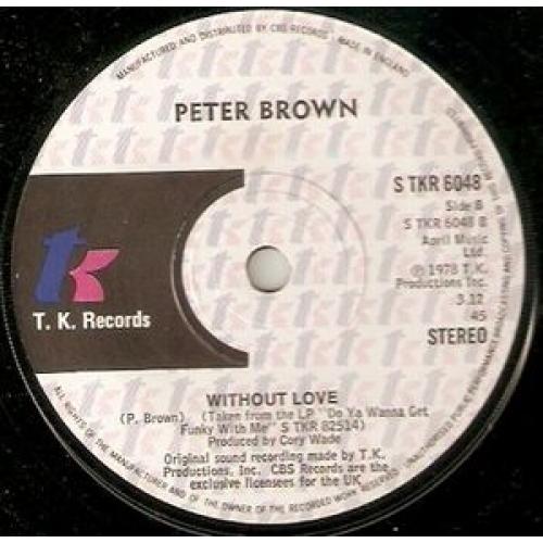 "Peter Brown - You Should Do It - 7''- Single - Vinyl - 7"""
