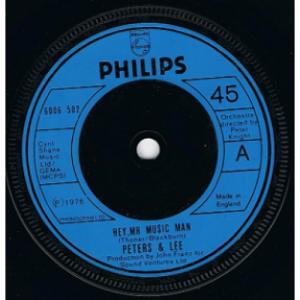 """Peters & Lee - Hey, Mr Music Man - 7'' - Vinyl - 7"""""""