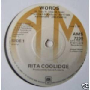 """Rita Coolidge - Words - 7'' - Vinyl - 7"""""""