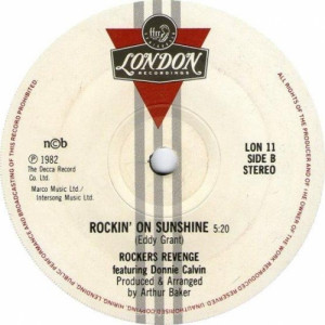 Rockers Revenge Featuring Donnie Calvin - Walking On Sunshine - 7'' - Vinyl - 7""