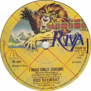 """Rod Stewart - I Was Only Joking / Hot Legs - 7'' - Vinyl - 7"""""""