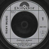 Roxy Music - Dance Away - 7''- Single