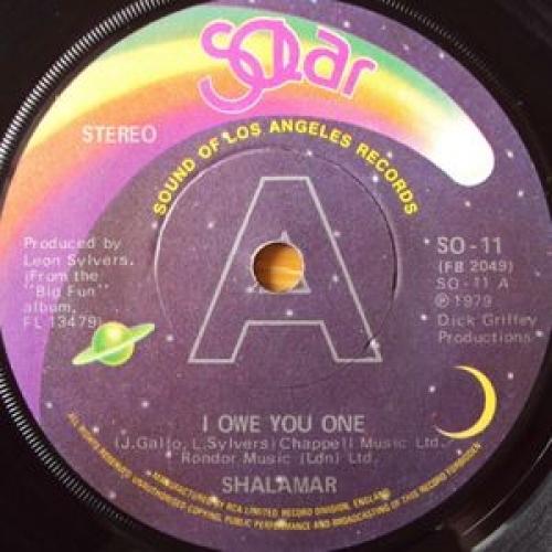 """Shalamar - I Owe You One - 7''- Single, Sol - Vinyl - 7"""""""