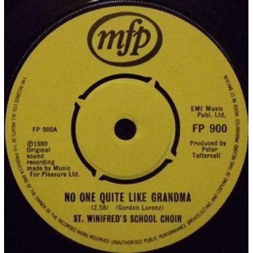 "St. Winifred's School Choir - There's No One Quite Like Grandma - 7''- Single, Yel - Vinyl - 7"""