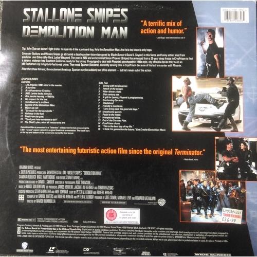 Stallone / Snipes - Demolition Man - DVD - Laser Disc