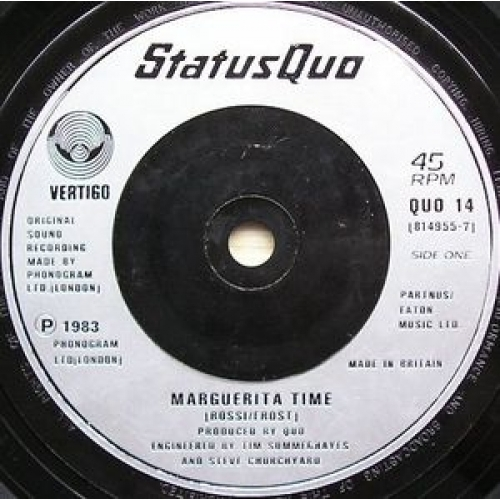 Status Quo - Marguerita Time - 7''- Single, Sil - Vinyl - 7""