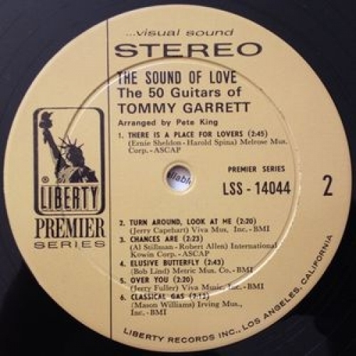 The 50 Guitars Of Tommy Garrett - The Sound Of Love - LP, Album, Gat - Vinyl - LP