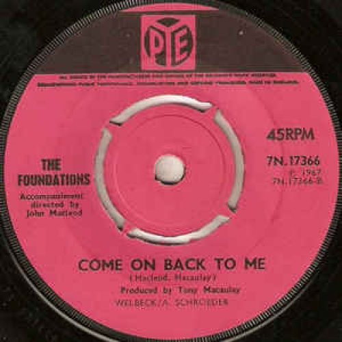 """The Foundations - Baby,Now That I've Found You - Vinyl - 7"""""""