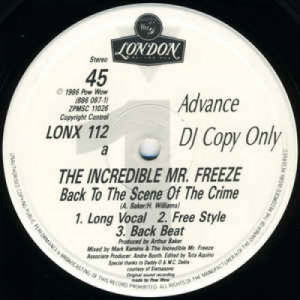 """The Incredible Mr Freeze - Back To The Scene Of The Crime - Vinyl - 12"""""""