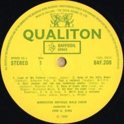 The Morriston Orpheus Choir - The Great Welsh Choirs - Corau Mawr Cymru - LP, RE - Vinyl - LP