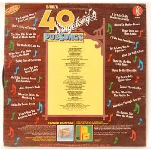 Unknown Artist - 40 Singalong Pub Songs - LP, Comp, Ltd, Gat - Vinyl - LP