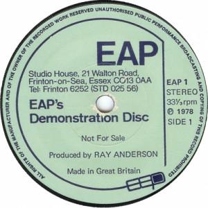 """Various - EAP's Demonstration Disc - 7'' - Vinyl - 7"""""""