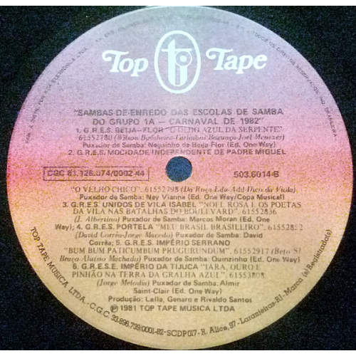 Various - Sambas-De-Enredo Das Escolas De Samba Do Grupo 1A - Carnaval - Vinyl - LP