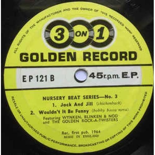 Wynken,Blinken And Nod,The Golden Rock-A- Twisters -  Little Miss Muffet.Hi Diddle Diddle - Vinyl - EP
