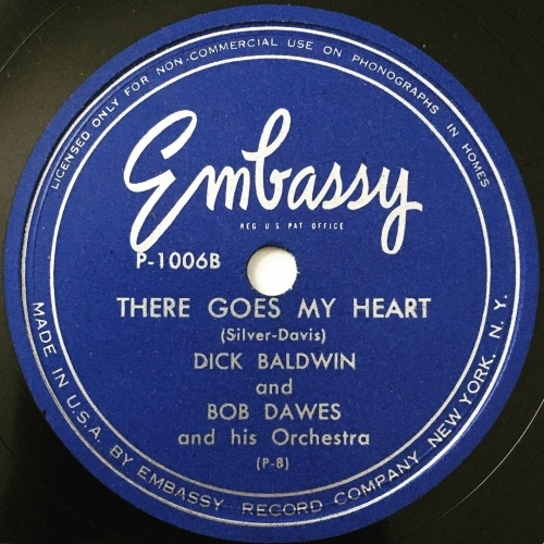 Dick Baldwin & Bob Dawes And His Orchestra - *self-titled* - Vinyl Record - 10''