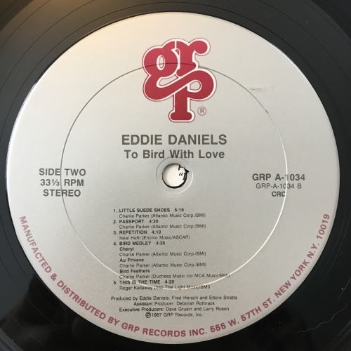 Eddie Daniels - To Bird With Love - Vinyl - LP