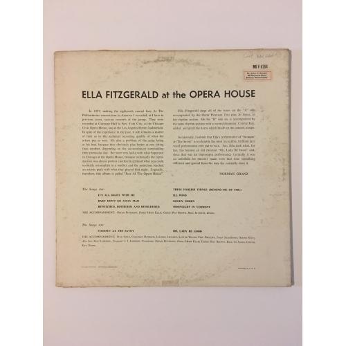 Ella Fitzgerald - At The Opera House - Vinyl - LP
