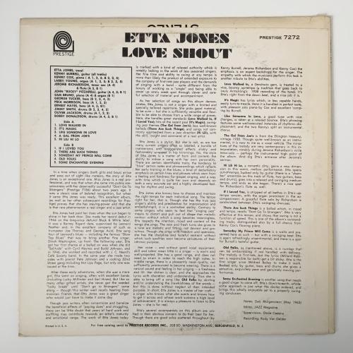 Etta Jones - Love Shout - Vinyl - LP