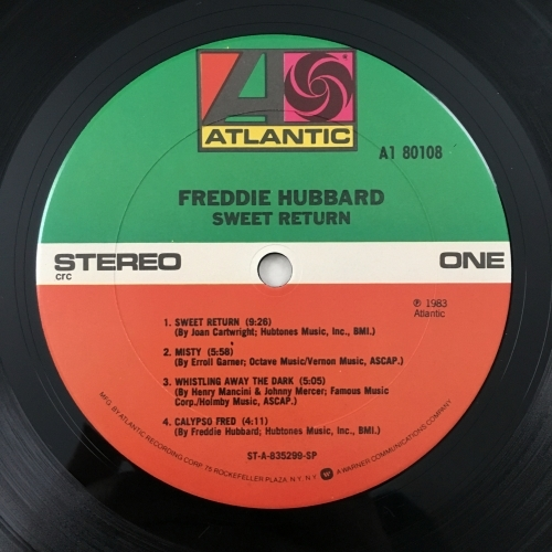 Freddie Hubbard - Sweet Return - Vinyl Record - LP