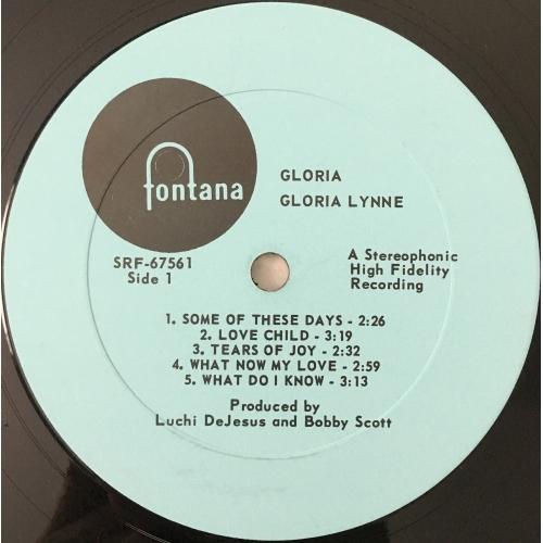 Gloria Lynne - Gloria - Vinyl Record - LP