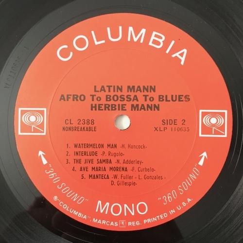 Herbie Mann - Latin Mann - Afro To Bossa To Blues - Vinyl - LP