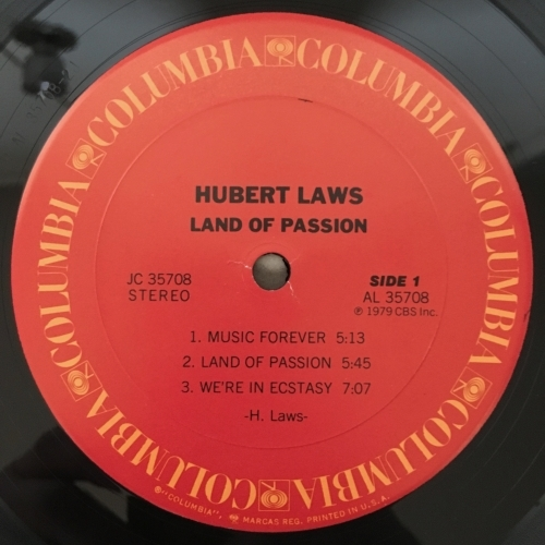 Hurbert Laws - Land Of Passion - Vinyl - LP