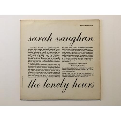 Sarah Vaughan - The Lonely Hours - Vinyl - LP