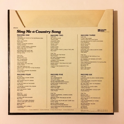 Various - Compilation - Sing Me A Country Song - Vinyl - LP Box Set
