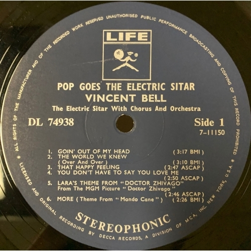 Vincent Bell - Pop Goes The Electric Sitar - Vinyl - LP