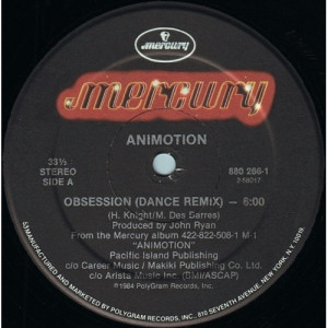 Animotion - Obsession (Dance Remix) - 12 - Vinyl Record - 12""