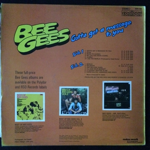 """Bee Gees – Gotta Get A Message To You -  Soft Rock, Ballad  1974 - Vinyl Record - 12"""""""